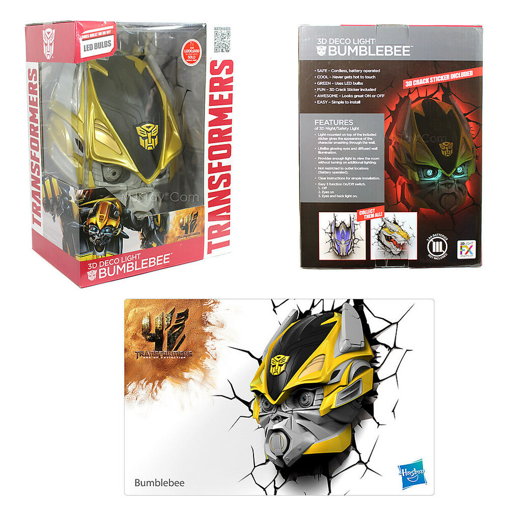 New Hasbro Transformers 3d Bumblebee Fx Deco Led Night