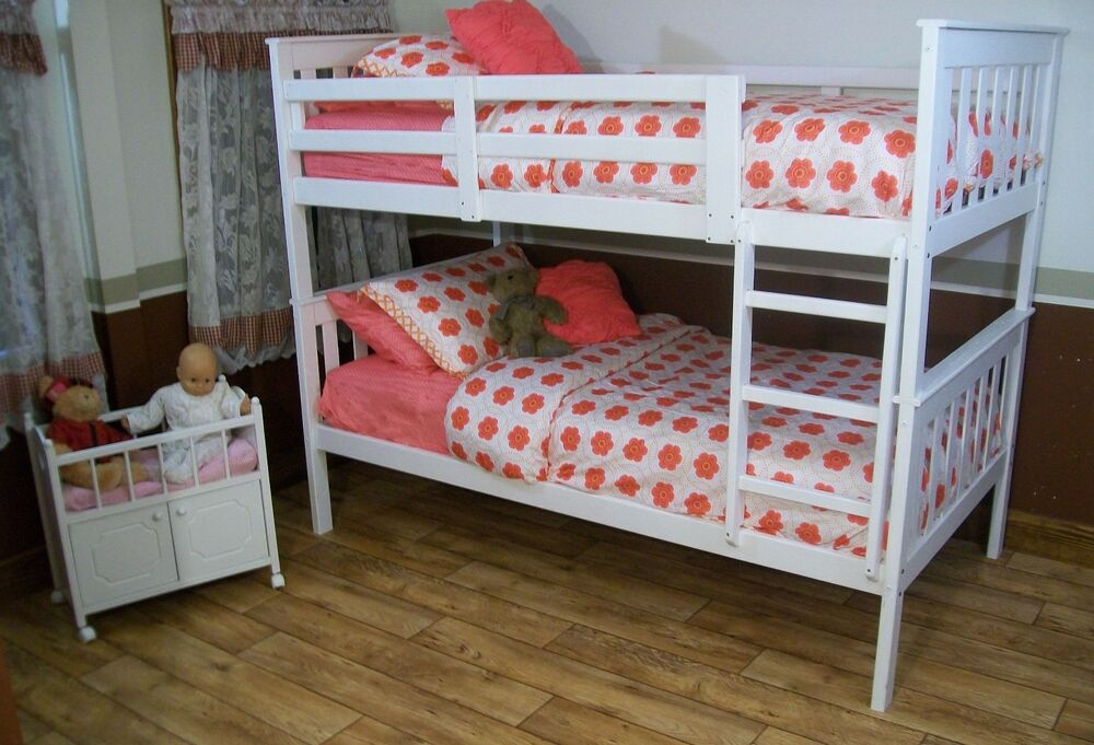 Mission style twin or full bunk beds 9 paint options Twin bed with mattress included