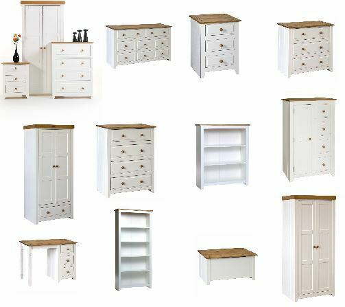 capri white pine bedroom furniture wardrobes chests bookcases
