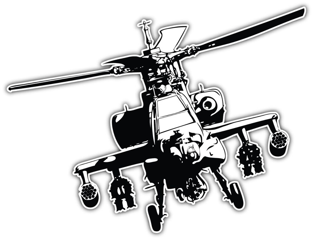 Boeing Ah 64 Apache Helicopter Us Army Car Bumper Window