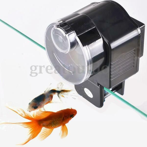 Automatic auto fish tank pond food feeder feeding timer for Fish feeders for ponds