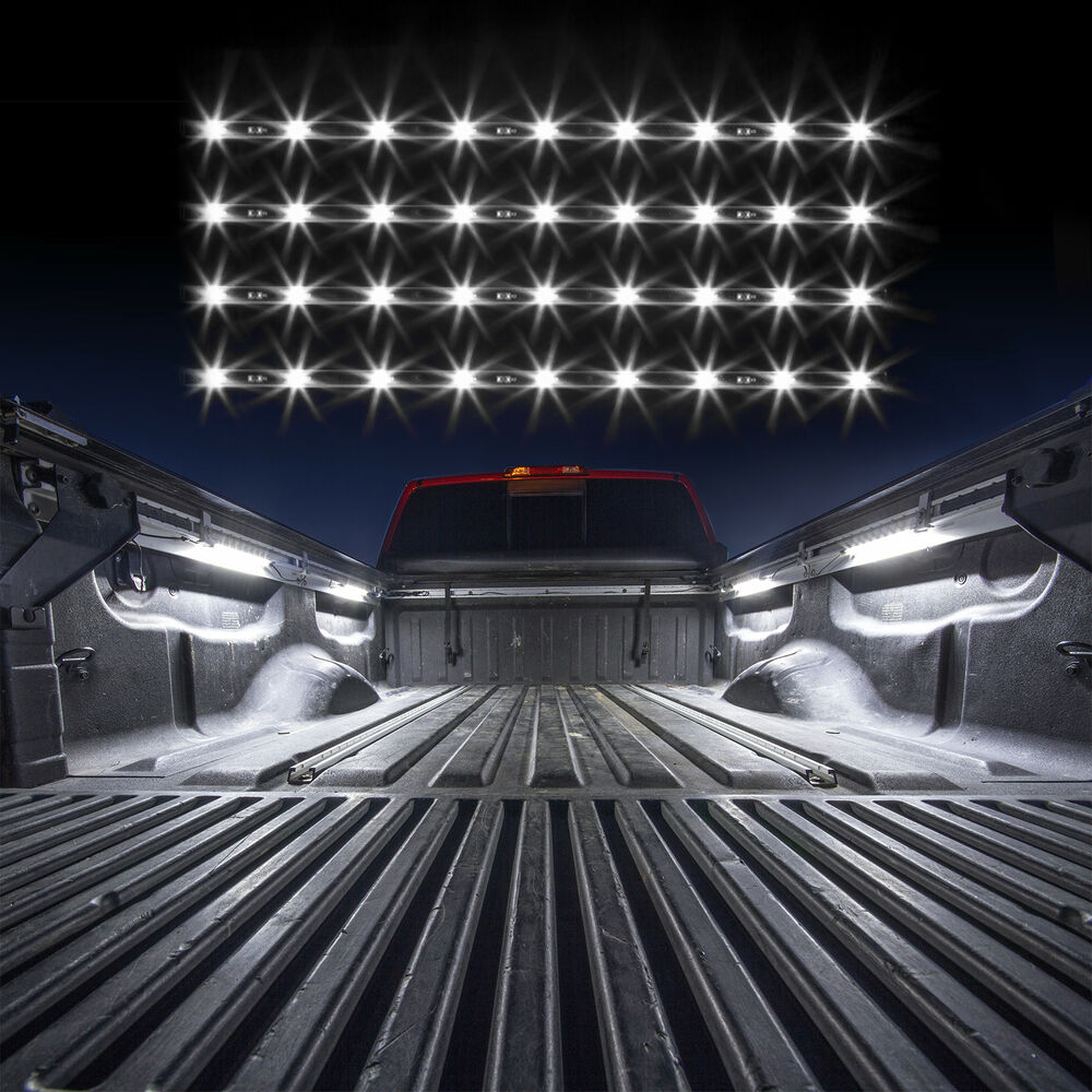 Truck Topper Or Cap Led Lid Lights 4 Pcs Tube Kit From Xkglow Auto Off White Ebay