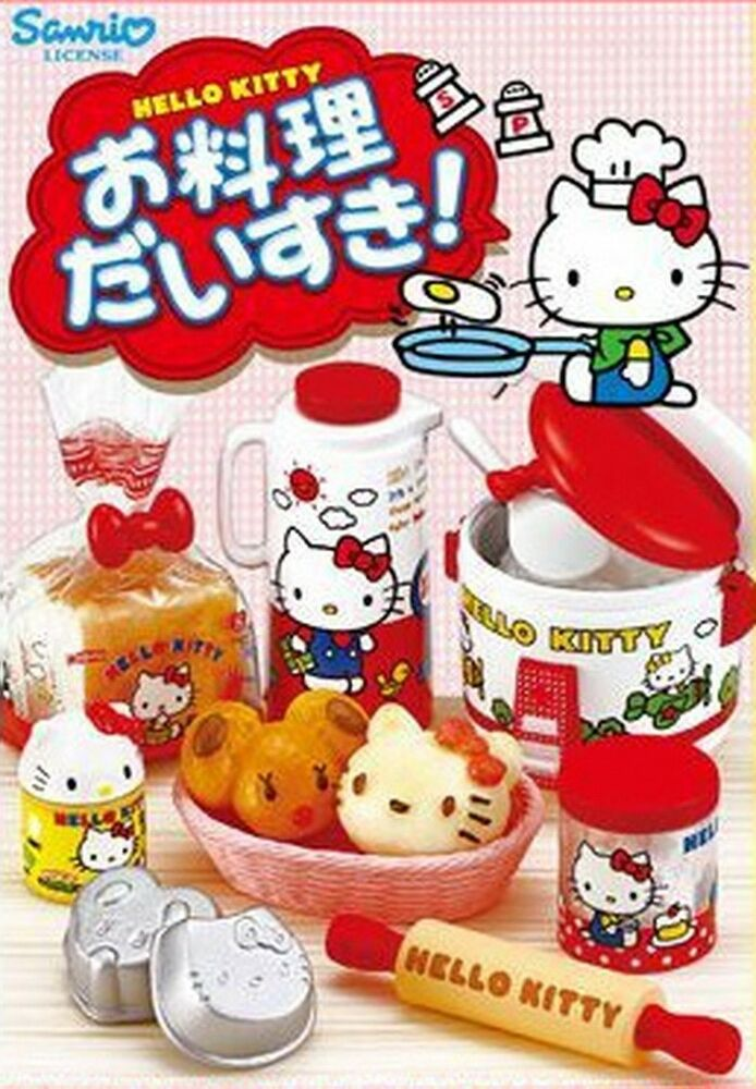Re Ment Sanrio Dollhouse Hello Kitty I Love Cooking In