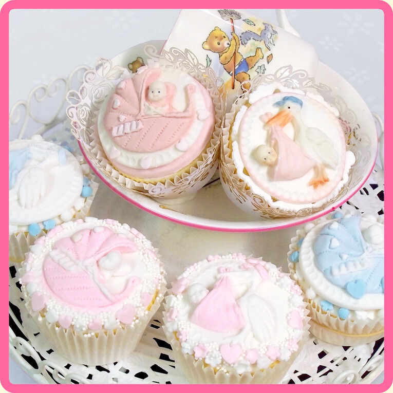 Katy Sue Designs NEWBORN CAKE & CUPCAKE ICING MOULDS BABY ...