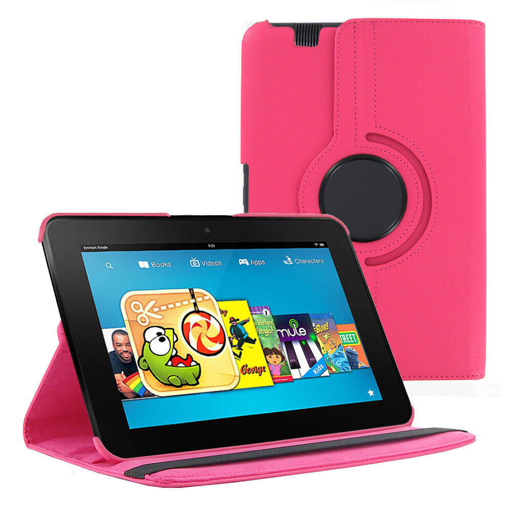 Hot Pink 360 Rotating PU Leather - 136.4KB