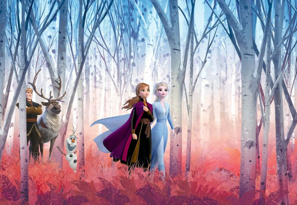 Wall mural photo wallpaper elsa frozen disney kids nursery for Disney princess ballroom wall mural