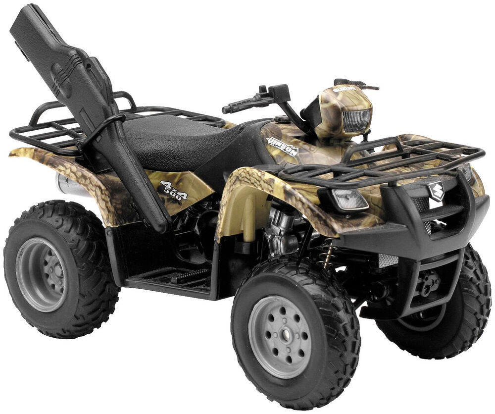 new factory suzuki 500 4x4 toy replica quad atv motorcycle toys boys kids 1 12 ebay. Black Bedroom Furniture Sets. Home Design Ideas