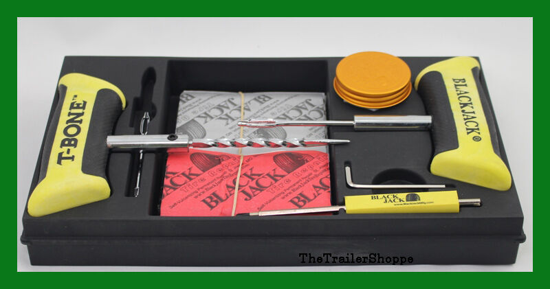 BlackJack Technicians Professional Tire Repair Kit T-Bone ...