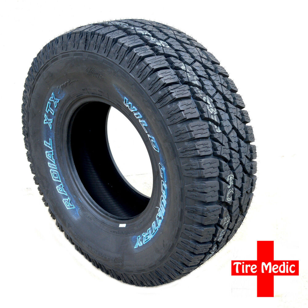 4 NEW Wild Country XTX All Terrain Tires A/T P 265/75-16 ...