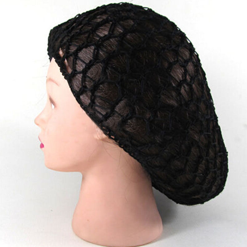 Crochet Hair On Net Cap : ... Rayon Snood Hair Net Crochet Hairnet Knit Hat Cap Hairband New eBay