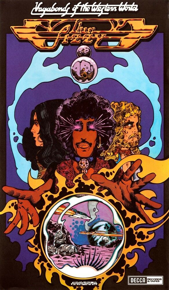 Thin Lizzy Vagabonds Of The Western World Poster Art Print