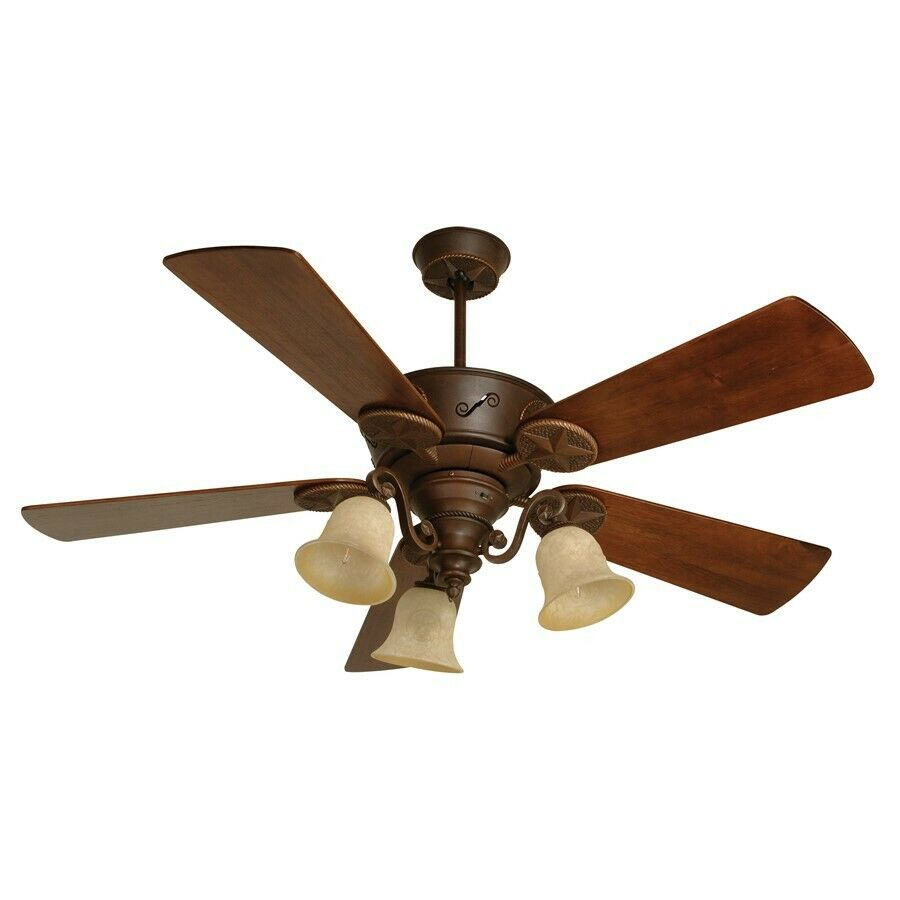 """Craftmade Ceiling Fan, Aged Bronze Chaparral W/ 54"""" Blades"""