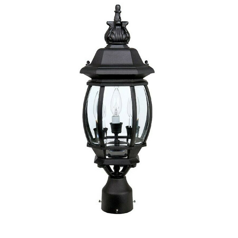 Country Lamps Lighting: Capital Lighting French Country 3 Lamp Post Lantern, Black