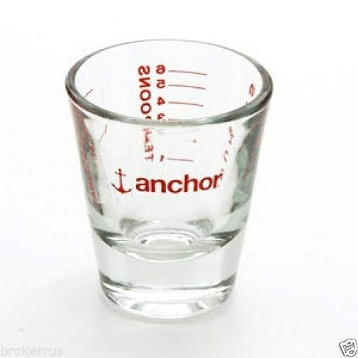 Anchor hocking shot glass one 1 oz ounce 6 teaspoons 2 for 1 table spoon oz