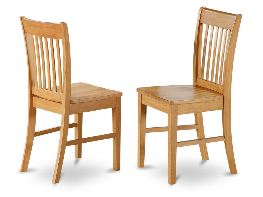 Oak Dinette Chairs ~ Set of norfolk dinette kitchen dining chairs with wood