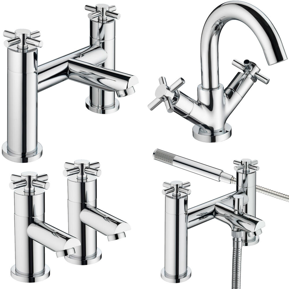 Bristan decade taps basin mixer bath shower filler chrome for Bathroom taps