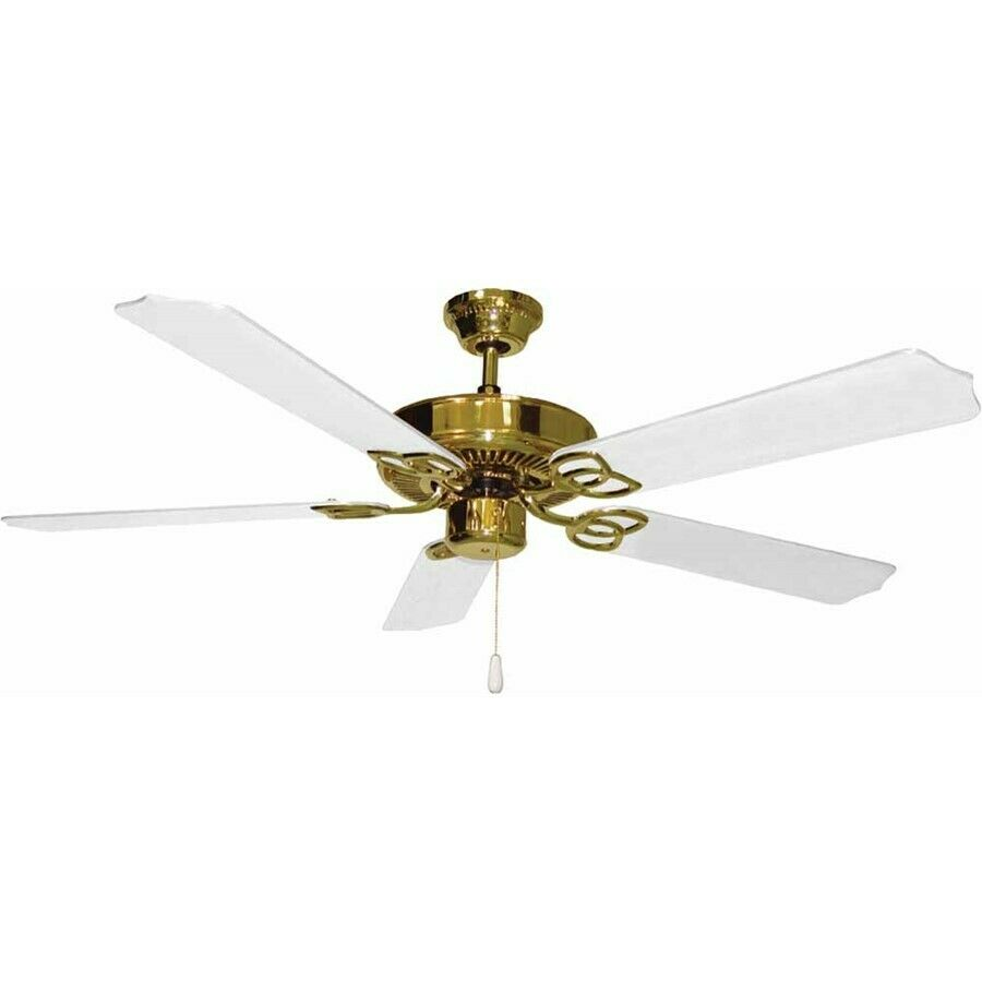 Volume Lighting Polished Brass Ceiling Fan, Polished Brass - V5954-2 ...