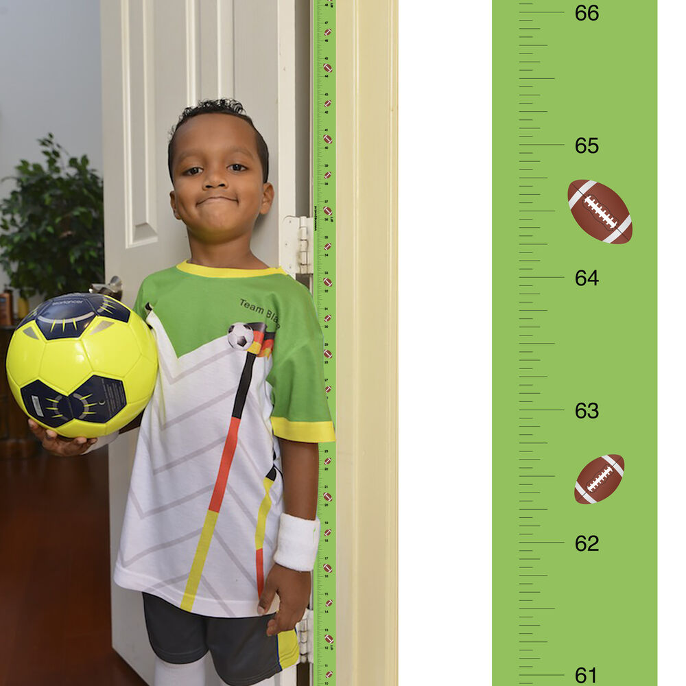 Removable Football Growth Chart Track Amp Measure Height