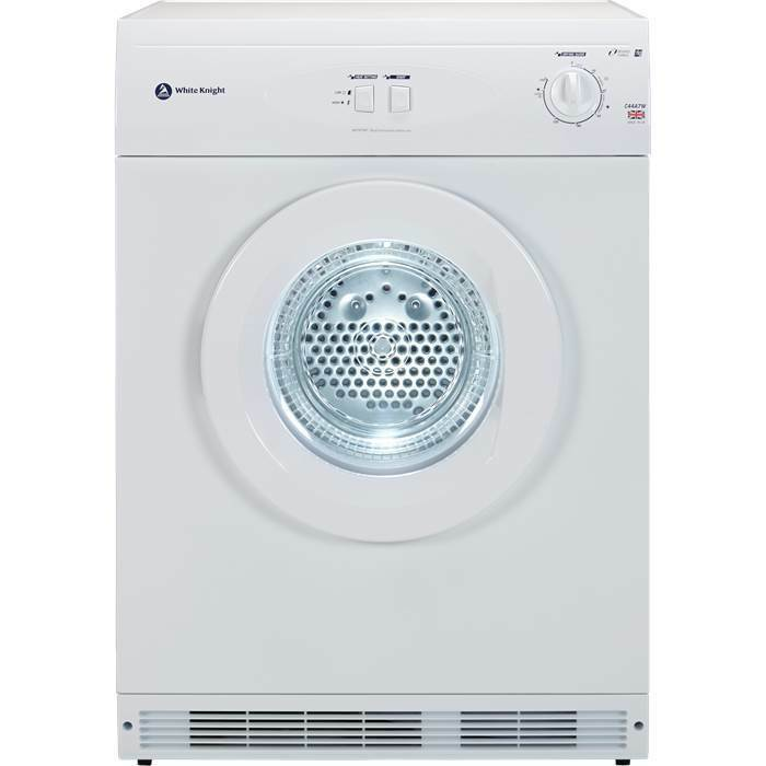 Person Tumble Dryer ~ White knight c a w freestanding kg vented tumble dryer