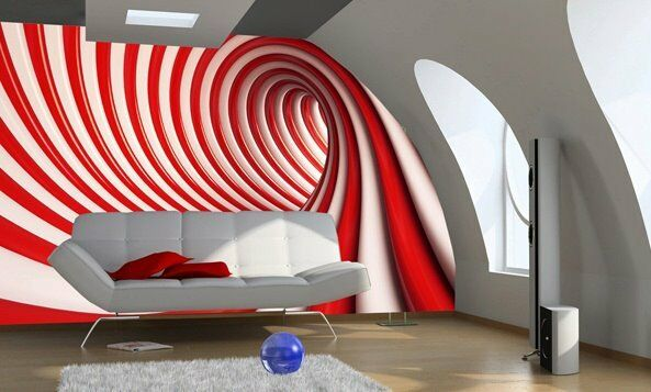 Wall mural wallpaper for home 254x183cm adhesive swirl for Home wallpaper ebay