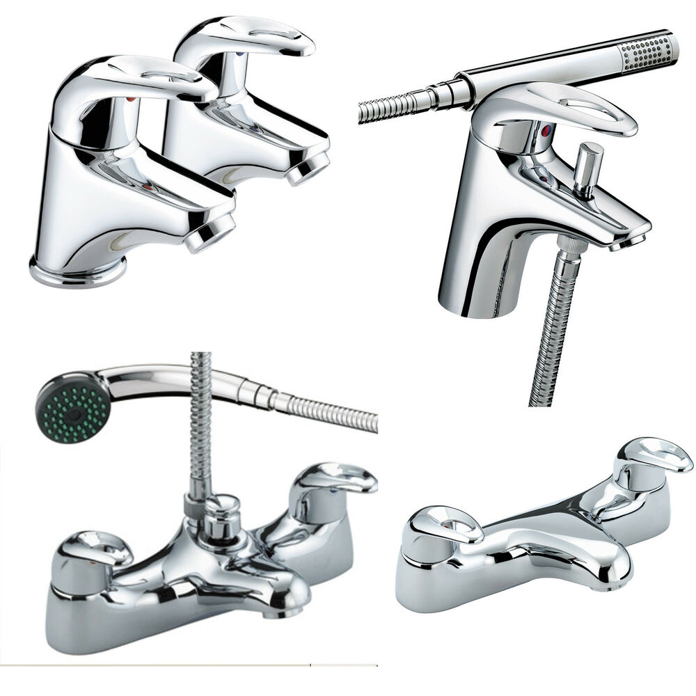 Bristan Java Taps Basin Mixer Bath Shower Filler Chrome