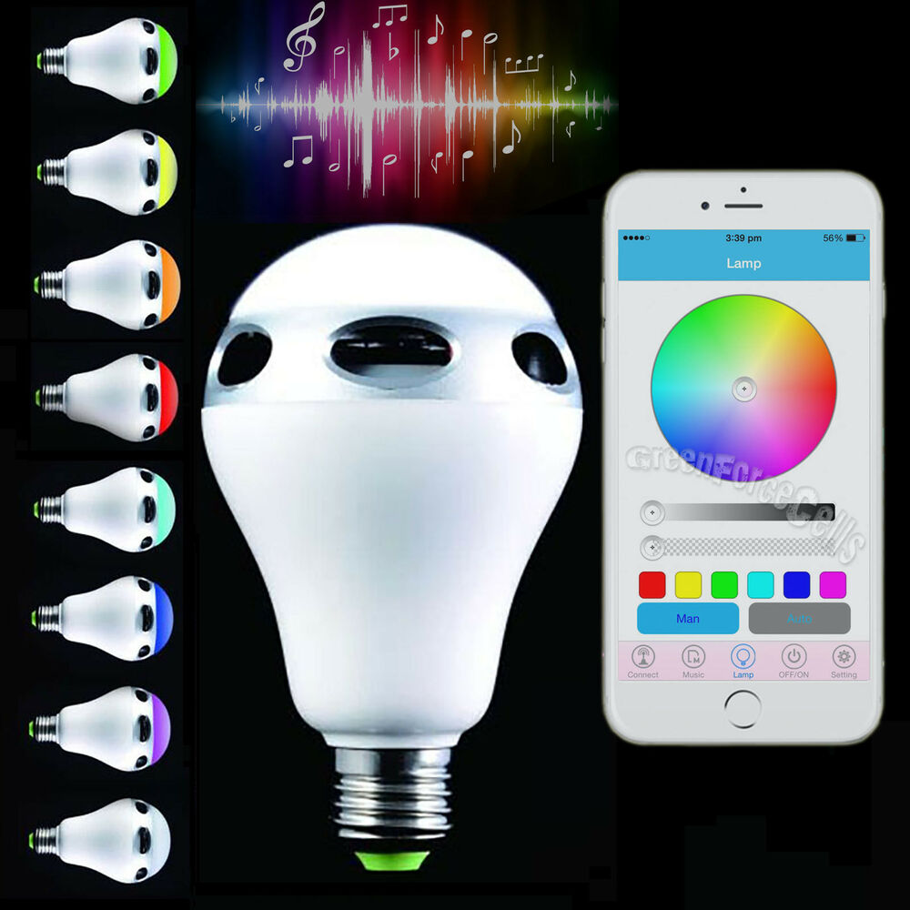 Bluetooth Control Music Audio Speaker Led Color Bulb Light