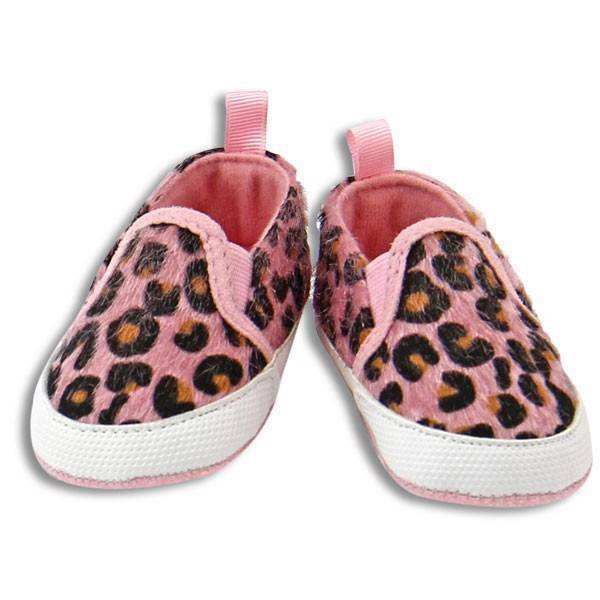 Girl Baby Shoes Stepping Stones Soft Baby PINK CHEETAH