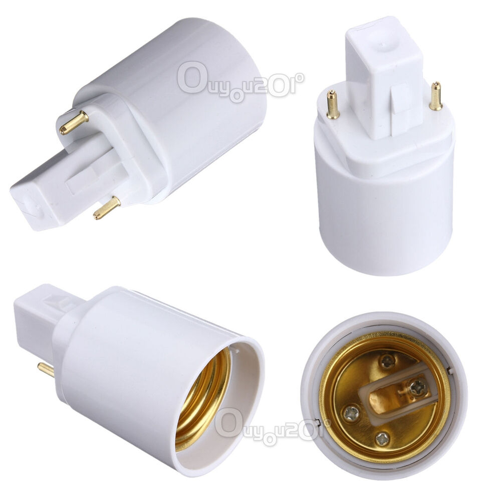 1pcs g24 to e27 socket led halogen cfl light bulb lamp adapter converter holder ebay Light bulb socket