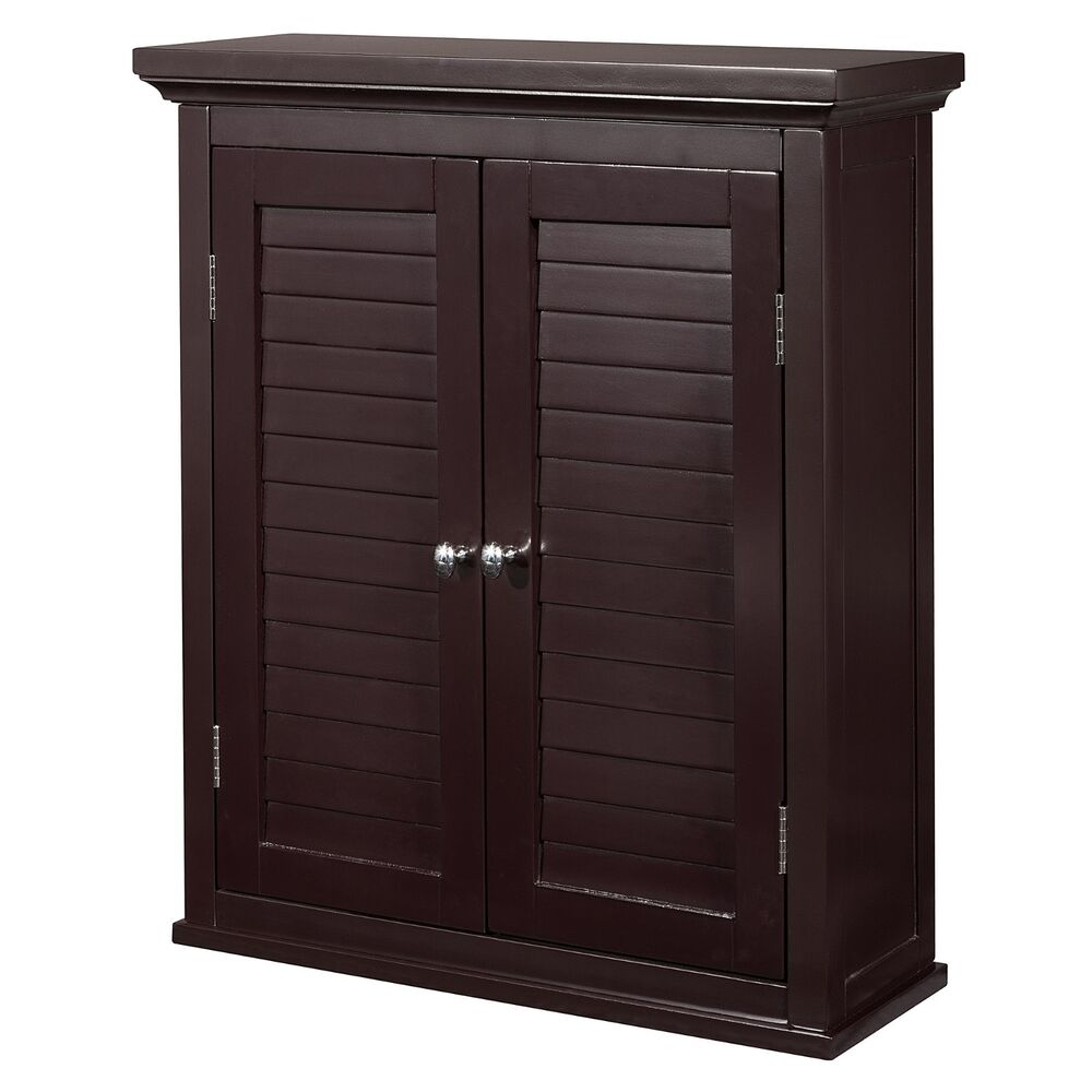 Elegant home fashions jacksonville wall cabinet 2 shutter for 1 door cabinet