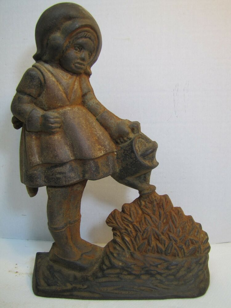 Antique Cast Iron Door Stop Mary Quite Contrary High