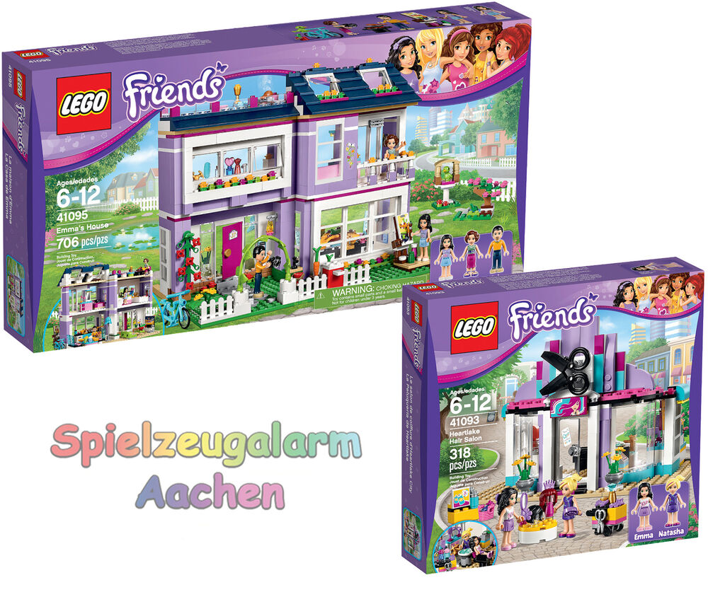 Lego friends set heartlake 41095 emmas familienhaus 41093 for Lego friends salon de coiffure