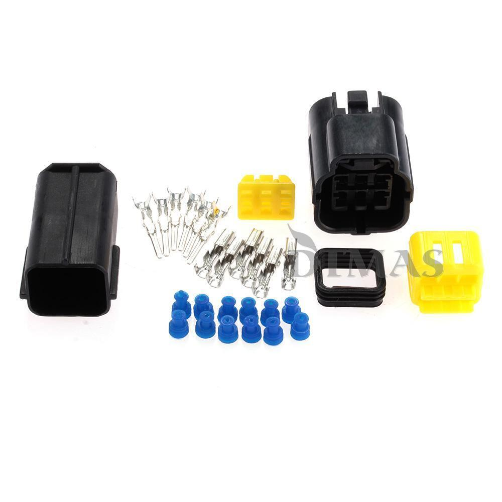 auto vehicle 6 way waterproof electrical wire cable connector plug kit durable ebay. Black Bedroom Furniture Sets. Home Design Ideas