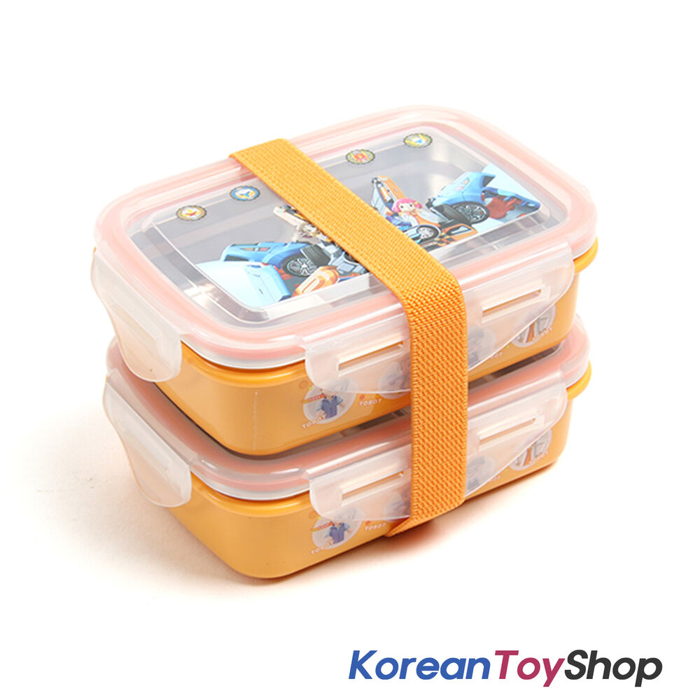 tobot insulated stainless steel lunch box bento 2 pcs with band made in korea. Black Bedroom Furniture Sets. Home Design Ideas