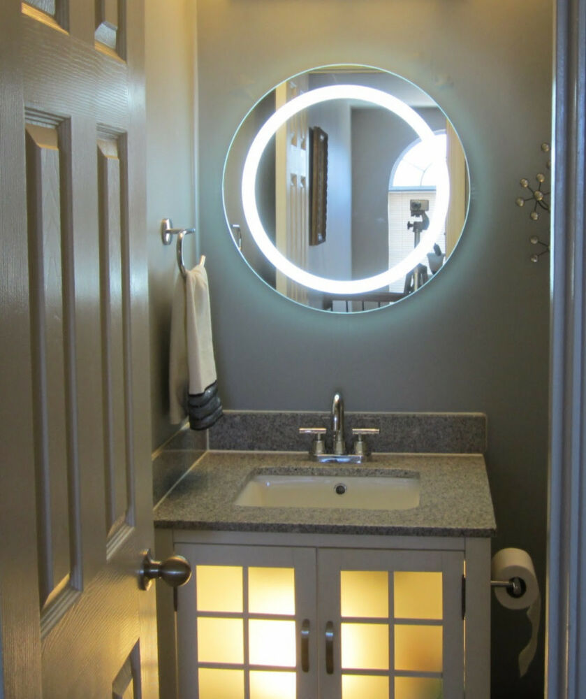 Lighted Vanity Mirrors Make Up Wall Mounted 24 Round Mam1d24 Ebay