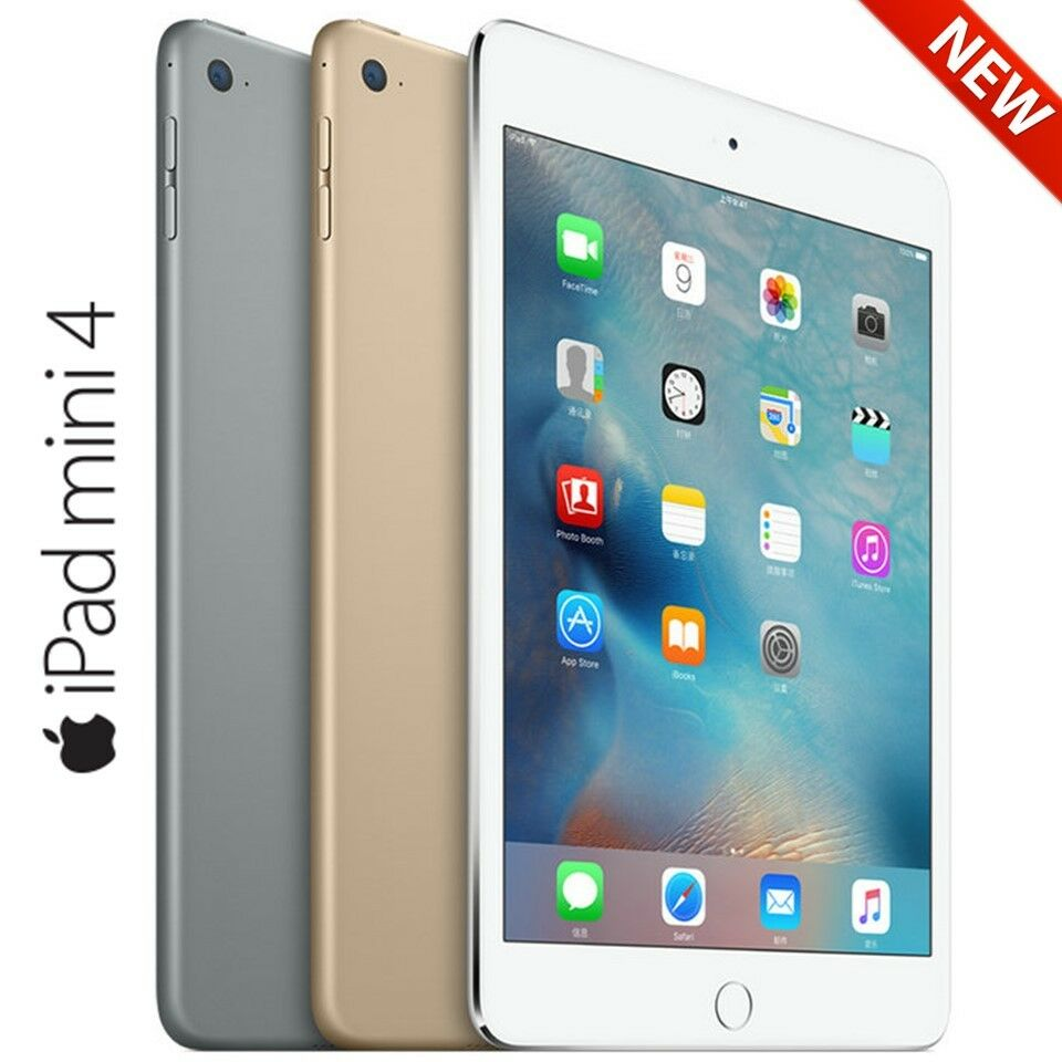 apple ipad mini 4 128gb with 7 9 retina display tablet touch id wifi only ebay. Black Bedroom Furniture Sets. Home Design Ideas