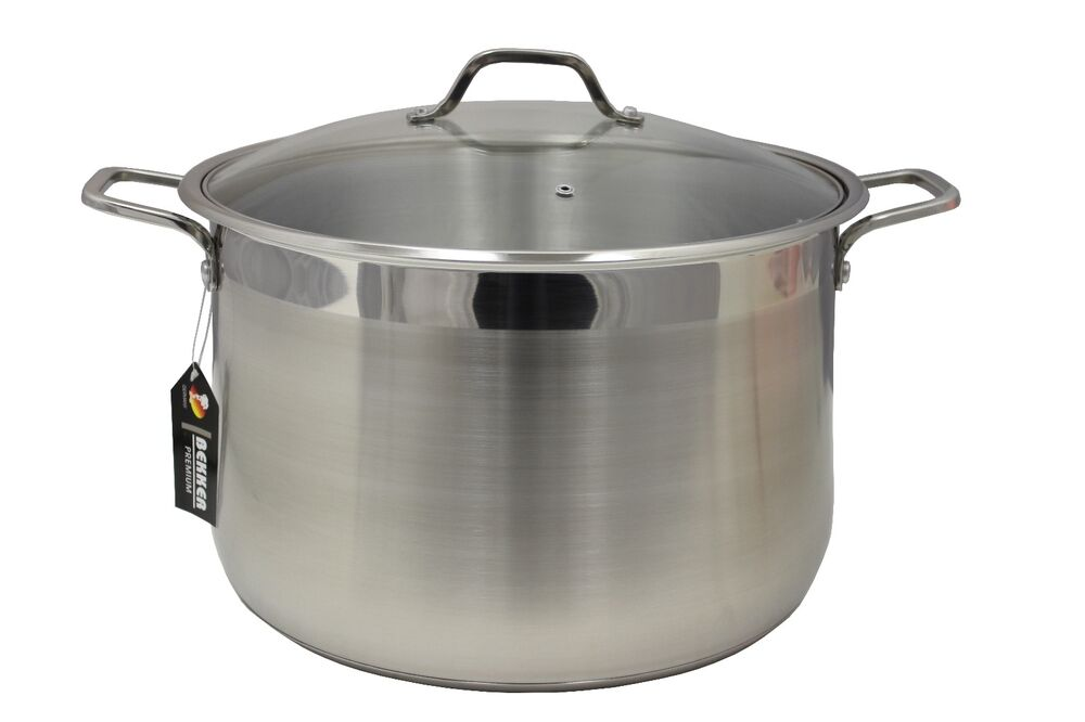 Bekker Stainless Steel Stock Pot W Lid Triply Bottom