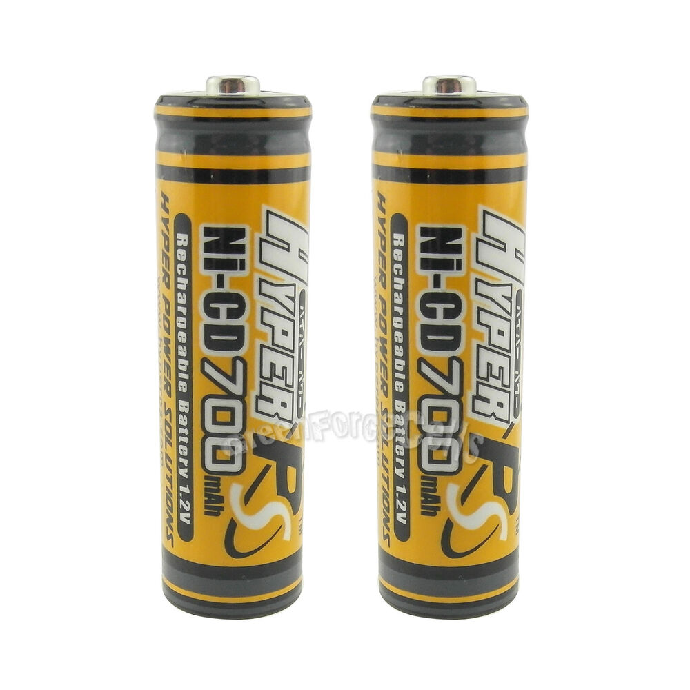 2 x aa 700mah 1 2v ni cd rechargeable battery cell rc mp3 2a kr6 hyper orange ebay. Black Bedroom Furniture Sets. Home Design Ideas