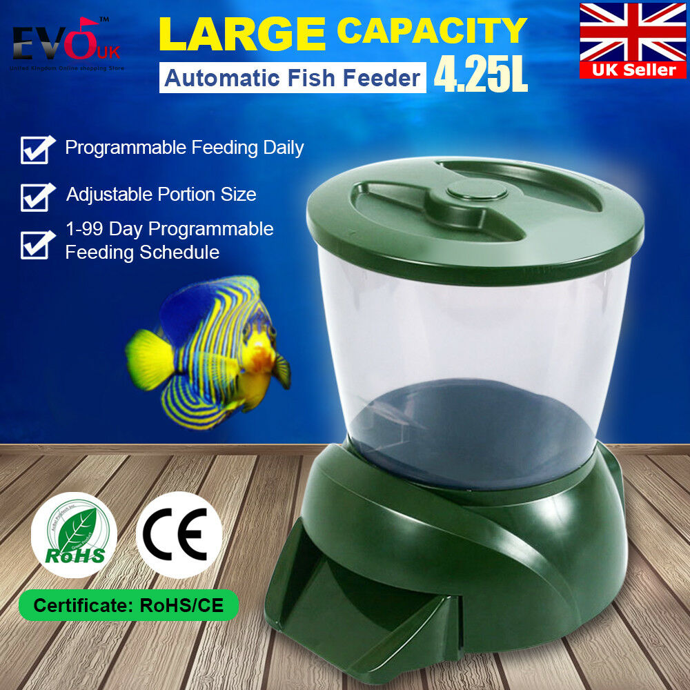 Fish feeder lcd digital automatic dispenser pond for Fish feeders for ponds