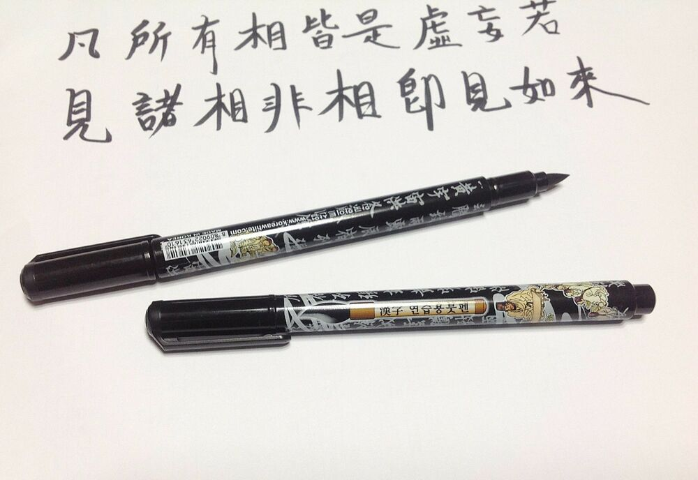 X 2 pens brush pen drawing for calligraphy korean chinese Drawing with calligraphy pens