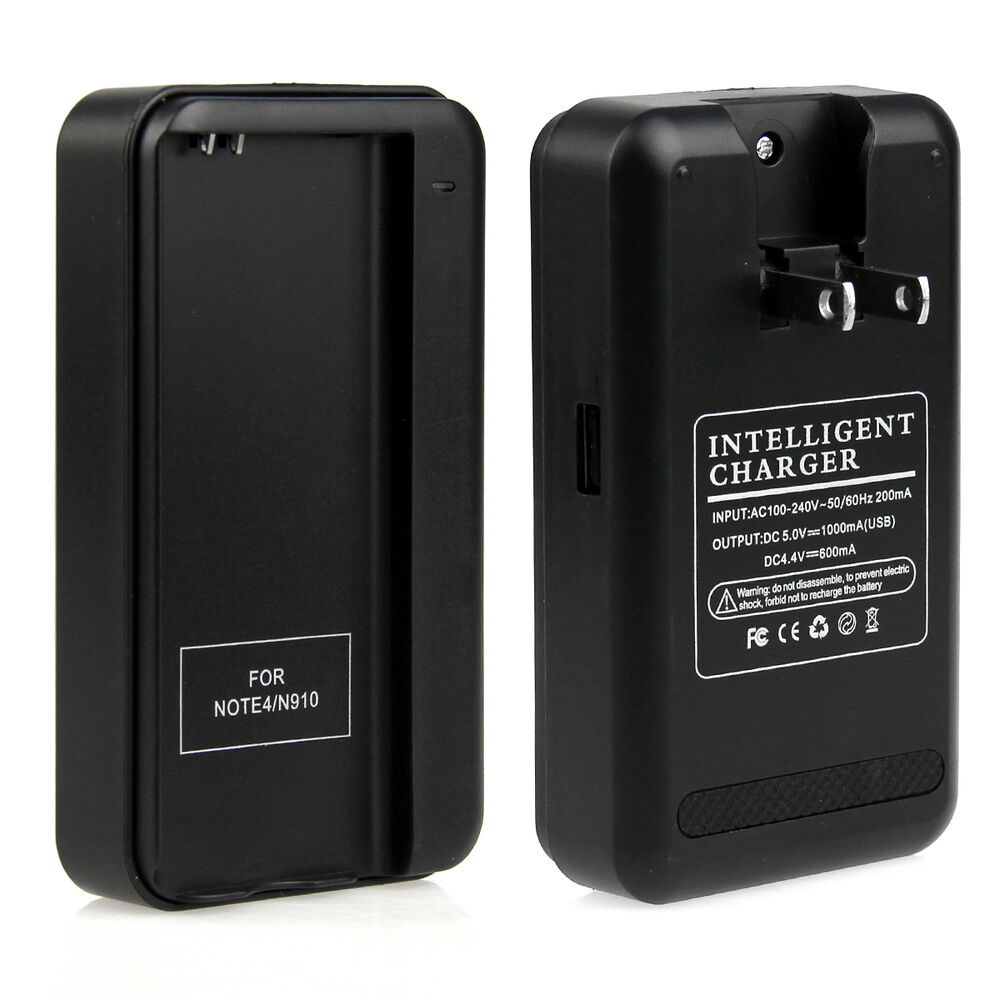 new external battery wall travel charger us plug for samsung galaxy note 4 n910 ebay. Black Bedroom Furniture Sets. Home Design Ideas