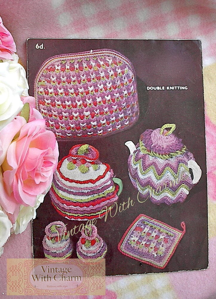 tea cosy template - vintage 1940s knitting pattern tea cosy 2 styles plus