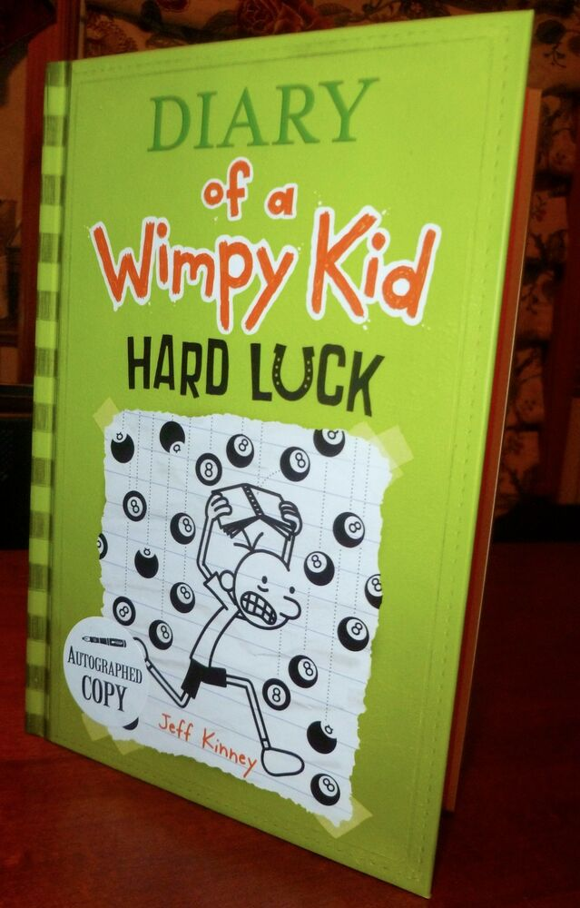 Diary Of A Wimpy Kid Books Hard Luck AUTOGRAPHED Dia...