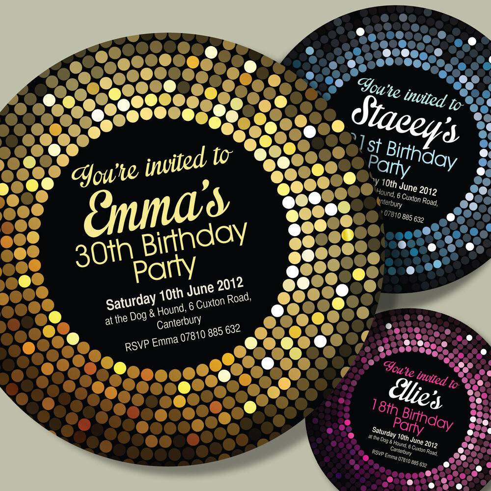 CIRCLE SHAPED Personalised 18th 21st 30th 40th Birthday