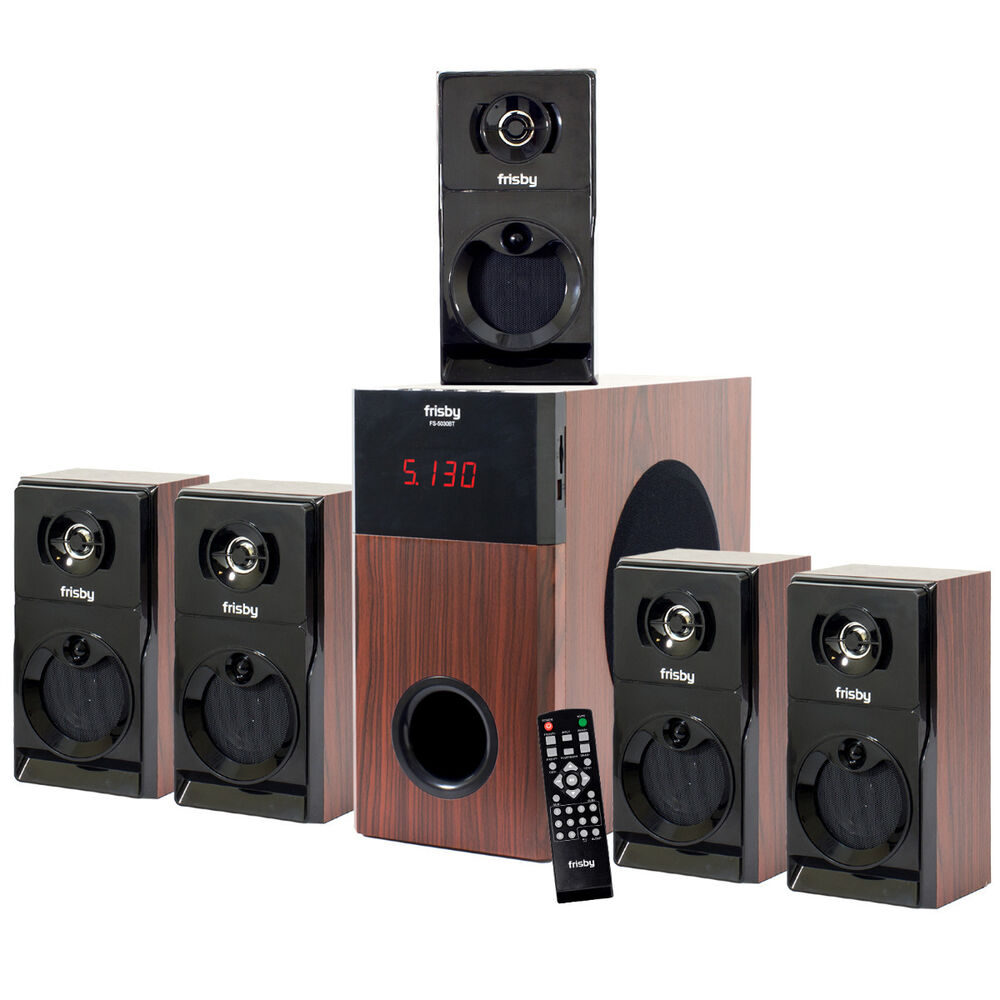 frisby fs5030bt 800watt bluetooth 5 1 surround sound home theater speaker system ebay. Black Bedroom Furniture Sets. Home Design Ideas