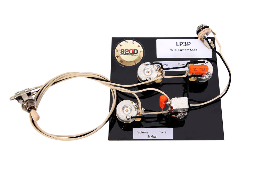 gibson les paul black beauty 3 pickup wiring harness