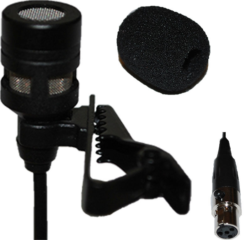 lavalier lapel mic with 4 pin xlr ta4f connector for shure wireless ebay. Black Bedroom Furniture Sets. Home Design Ideas