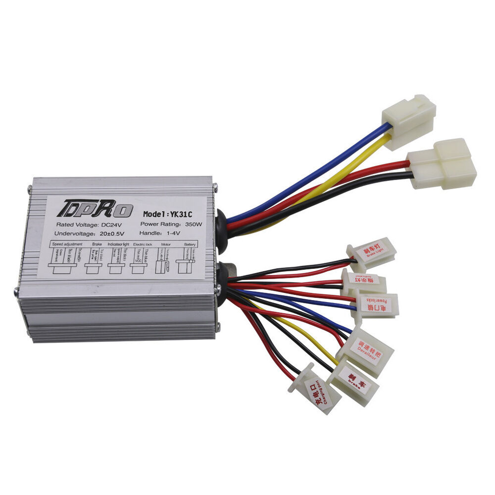 Motor brush speed controller box 24v 350w for electric for Speed control electric motor
