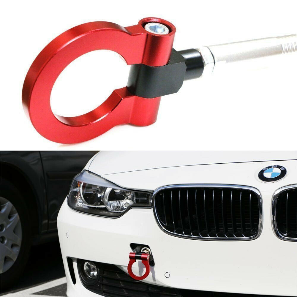 Red Track Racing Style Aluminum Tow Hook For Bmw F30 F35