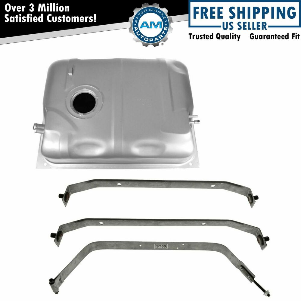 Gas Fuel Tank 15 Gallon With Strap Kit Set For 87-90 Jeep