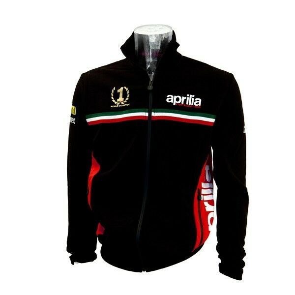 New Official Aprilia Team Black Zip Up Sweatshirt Fleece No 1 Ebay